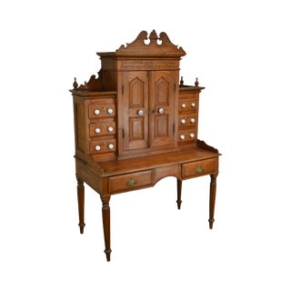 Antique 19th Century Anglo Indian Solid Teak Desk For Sale
