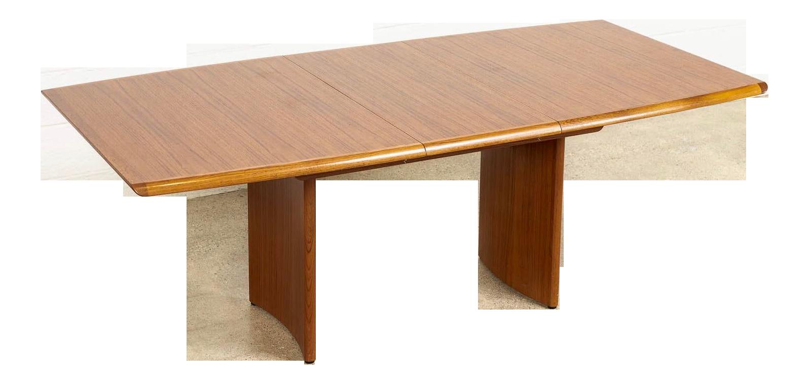 Vintage Mid Century Danish Modern Teak Wood Extendable Dining Table Chairish