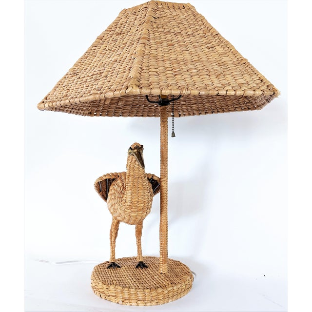 Boho Chic 1970s Mario Lopez Torres Crane Table Lamp For Sale - Image 3 of 12
