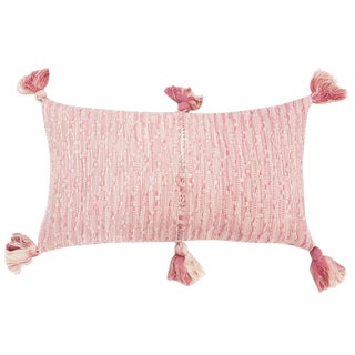 Antigua Faded Pink Solid Pillow