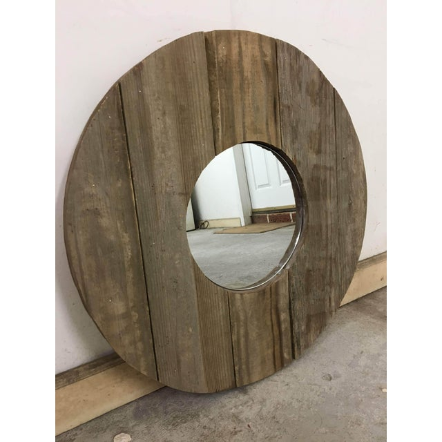 Rustic Barn Wood Mirror | Chairish