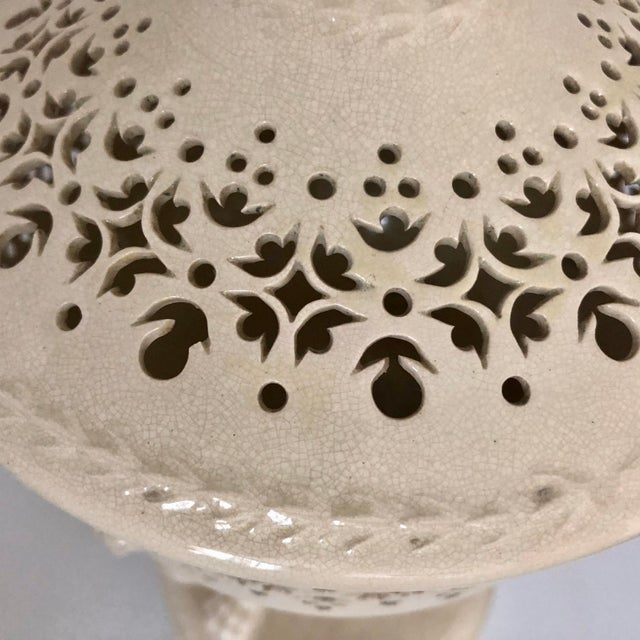 19th Century French Creamware Potpourri Lidded Dish For Sale - Image 11 of 13