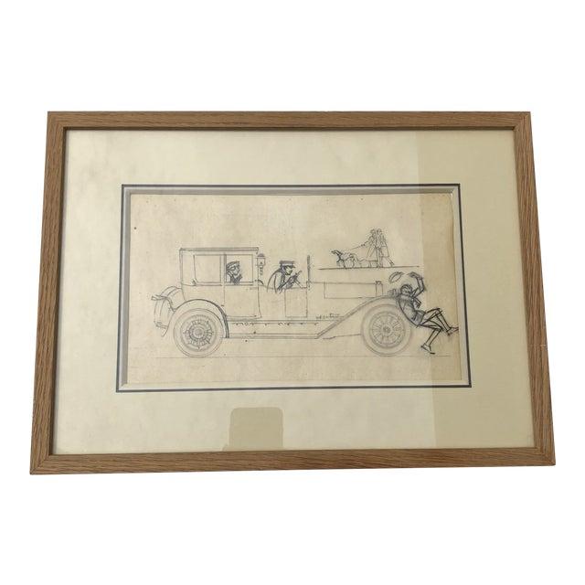 Original Drawing by Bernard Boutet De Monvel For Sale