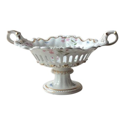 Rare Antique Rockingham Brameld Pedestal Dessert Bowl C.1820 For Sale