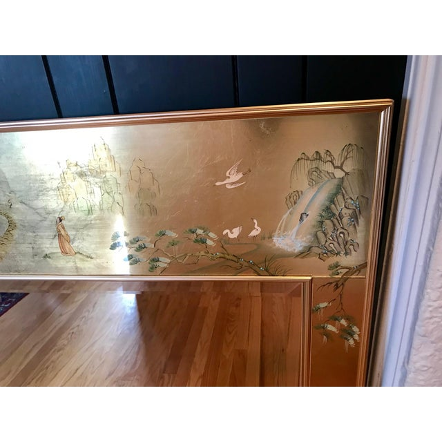 Labarge LaBarge Chinoiserie Style Eglomise Mirror For Sale - Image 4 of 12