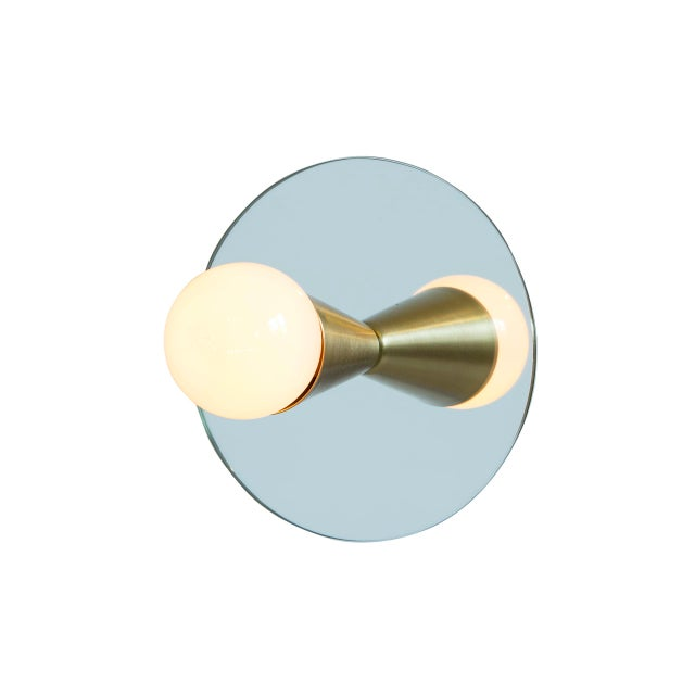 Contemporary Echo 1 Sconce in Brass With Mirror-Backing by Souda For Sale - Image 3 of 6