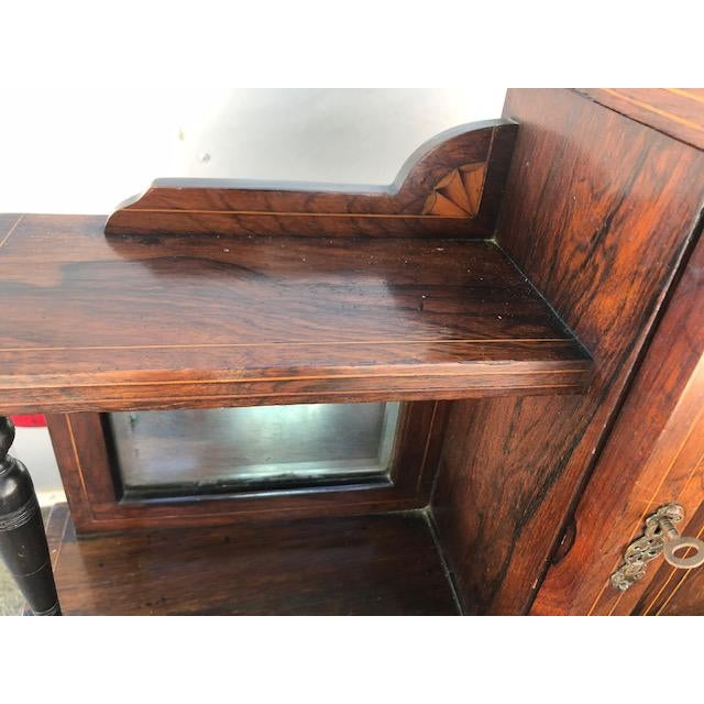 19th Century Edwardian Rosewood Ladies Writing Desk For Sale In West Palm - Image 6 of 7