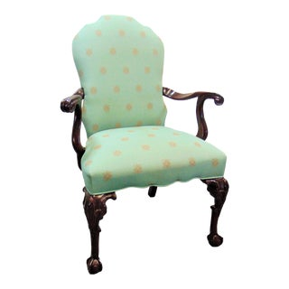 Chippendale Mahogany Carved Arm Chair For Sale
