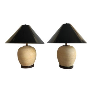 Japanese Pickling Jar Table Lamps - a Pair For Sale