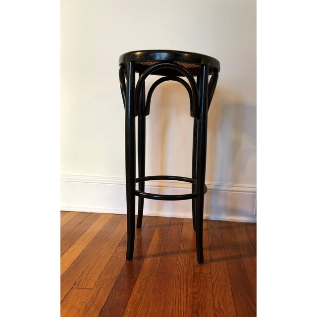 Americana Talian Antique Bentwood and Cane Cafe Stool For Sale - Image 3 of 10