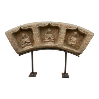 Finely Carved Antique Buddha Shrine For Sale