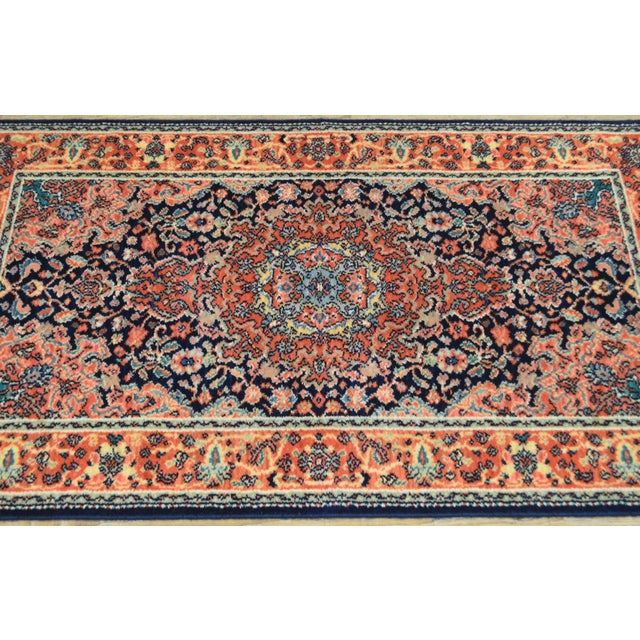 "Textile Karastan Kashan Medallion 2'10"" X 5' Throw Rug #741 For Sale - Image 7 of 13"