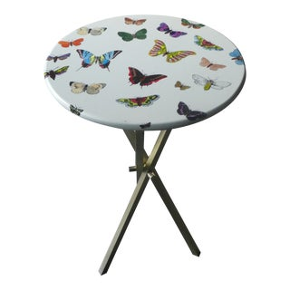 1960s Mid-Century Modern Fornasetti Butterfly Side Table For Sale