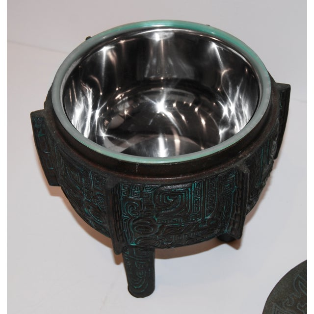 Primitive James Mont-Attributed Mayan Ice Bucket For Sale - Image 3 of 7