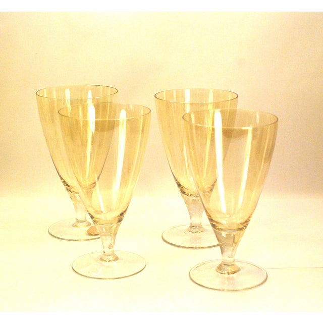 Bohemia Crystal Glassware Gold Iridescent - S/17 - Image 6 of 9