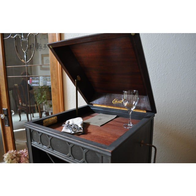 Antique Edison Phonograph Dry Bar For Sale - Image 11 of 13