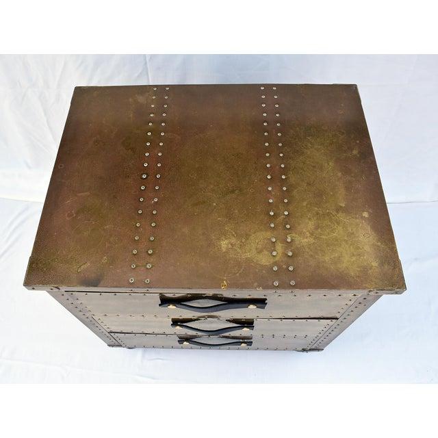 Sarreid Ltd. Sarreid Brass 3-Drawer Chest For Sale - Image 4 of 8
