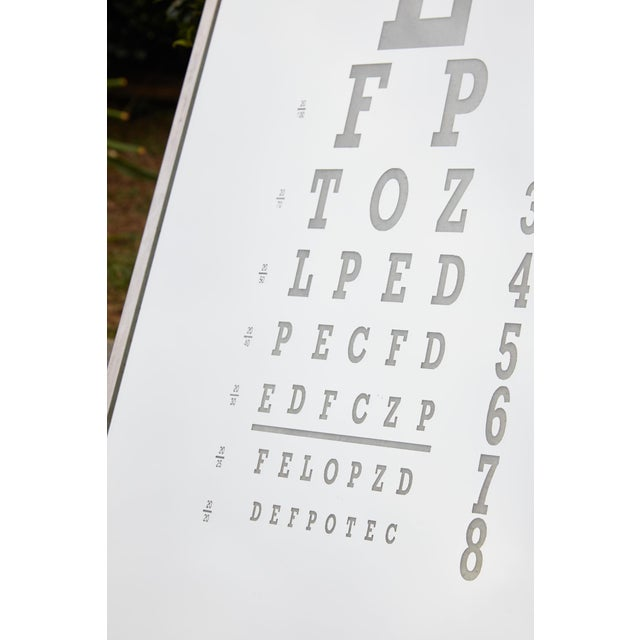 Midcentury Eye Chart Mirror For Sale - Image 11 of 13