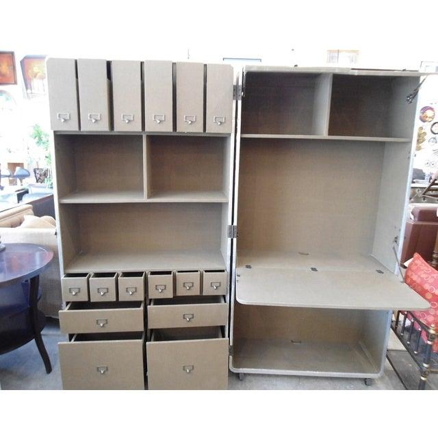 Restoration Hardware Steamer Trunk Secretary For Sale In Los Angeles - Image 6 of 11