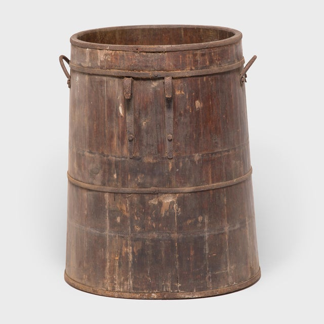 Asian Provincial Chinese Water Barrel For Sale - Image 3 of 8