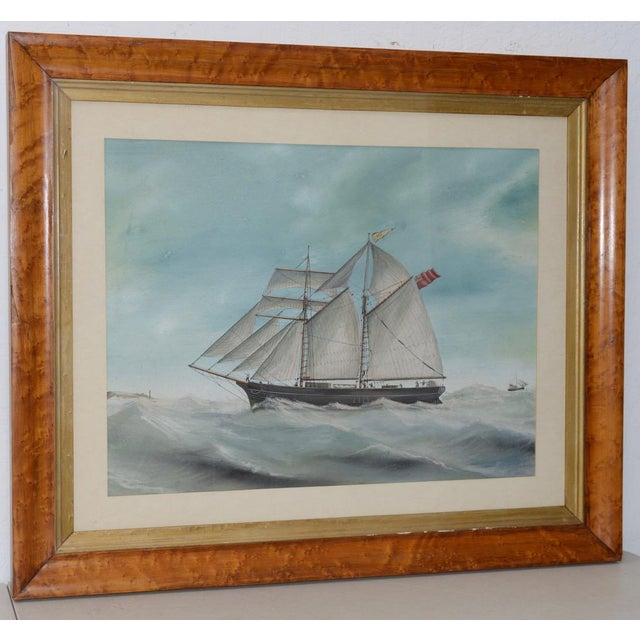 """Original Watercolor of the British Ship """"Kate"""" Out at Sea C.1890s to 1910 For Sale - Image 11 of 11"""
