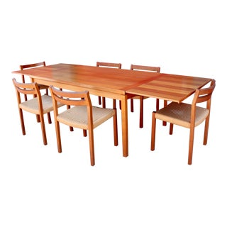 Danish Teak Dining Table and Chairs by Jl Møller - 7 Pieces For Sale