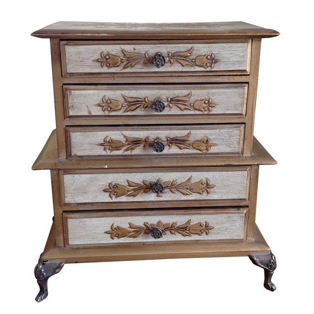 Mid-Century French Provincial Jewelry Box For Sale