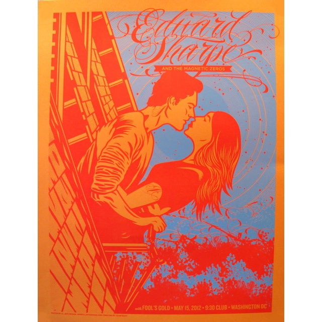 2012 American El Jefe Concert Poster, Edward Sharpe and the Magnetic Zeros For Sale