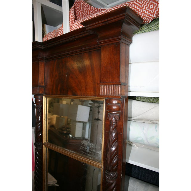 Antique Mahogany Mirror - Image 4 of 6