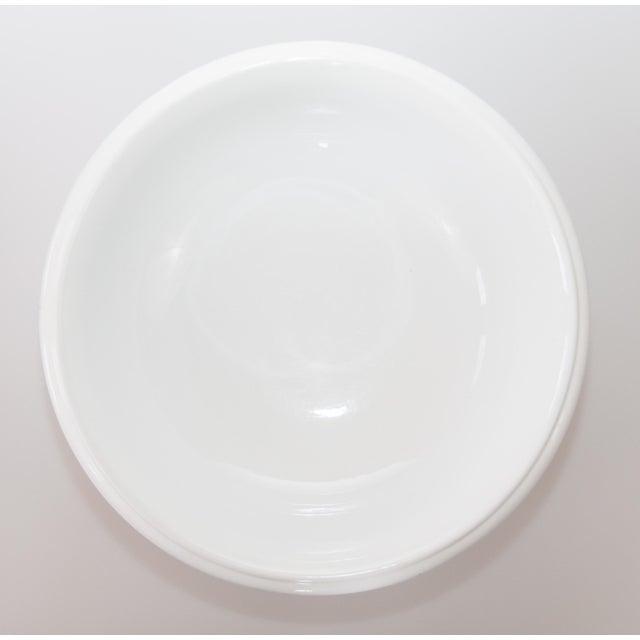 Large Antique English White Ironstone Bowl For Sale - Image 4 of 7