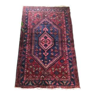 Persian Blue & Purple Wool Rug -6'8 X 4'2