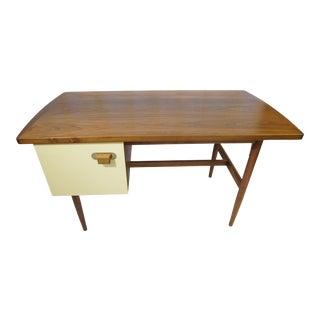 1950s Danish Modern Jens Risom Design Inc Writing Desk For Sale