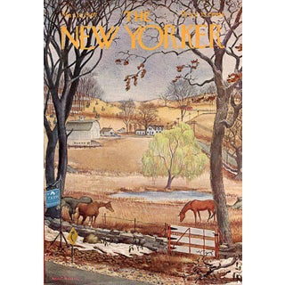 Vintage 1967 New Yorker Cover, March 18 (Albert Hubbell), Seasons, Spring For Sale