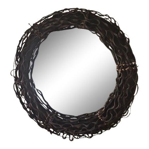Round Twig Framed Wall Mirror | Chairish