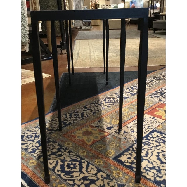 Industrial Bernhardt Industrial Modern Black Iron Holden Console Table For Sale - Image 3 of 5