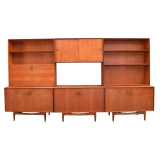 1960s Danish Modern Kofod Larsen for G Plan Teak Wall Unit