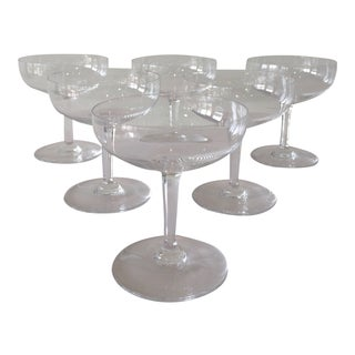 Vintage Baccarat Champagne Crystal Coupes For Sale