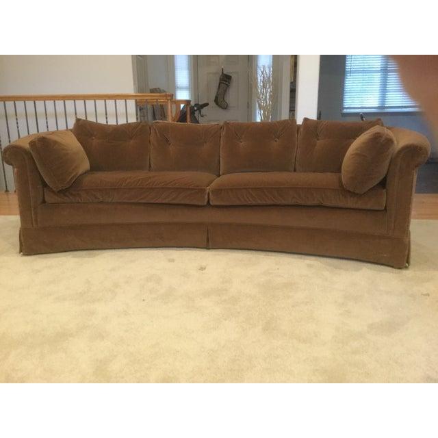 Mid-Century Modern Style Baker Curved Sofa