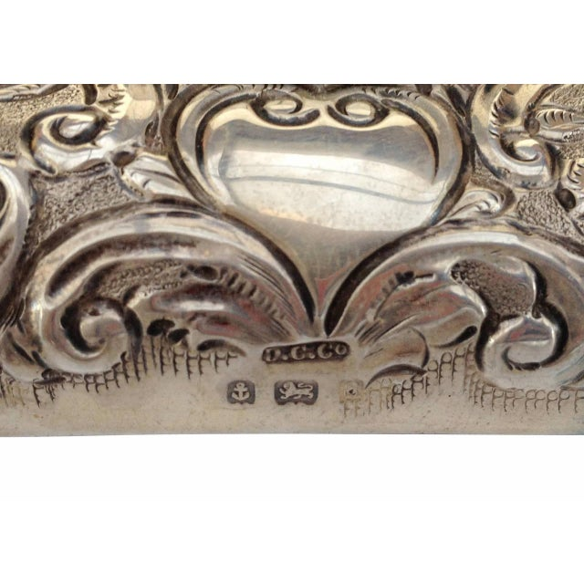 Victorian Silver Embossed Bed Side Clock by Douglas Clock Company - Image 7 of 7