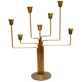 Brass Candelabrum by Holm Sorensen For Sale