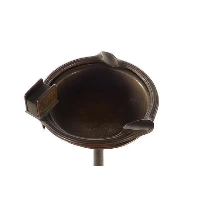 Tiffany Studios Art Nouveau Bronze Ashtray on Stand - Image 2 of 9