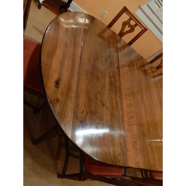 French Walnut Extension Dining Table For Sale - Image 4 of 12
