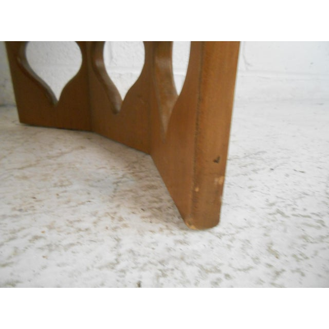Coffee Vintage Modern Coffee Table With Sculptural Base For Sale - Image 8 of 13