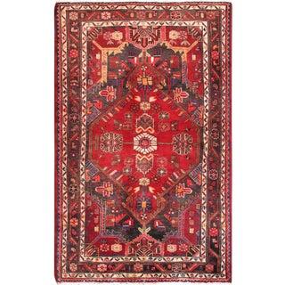 "Pasargad Vintage Hamadan Red Wool Area Rug- 3' 9"" X 6' 1"" For Sale"