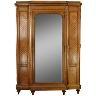 Armoire Louis XVI Antique French Mahogany For Sale