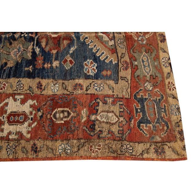 "Vintage Persian Tribal Bakshaish Rug, 3'3"" X 10'10"" For Sale - Image 4 of 11"