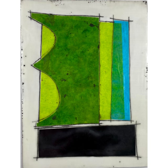 """Wood """"Eat the Cake"""" by Gina Cochran Encaustic Collage Installation - 9 Panels For Sale - Image 7 of 13"""