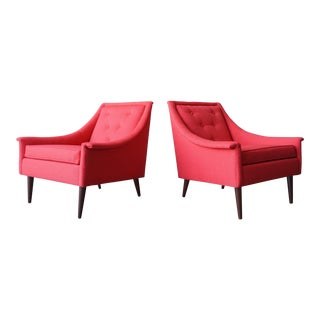Red Selig Lounge Chairs - a Pair