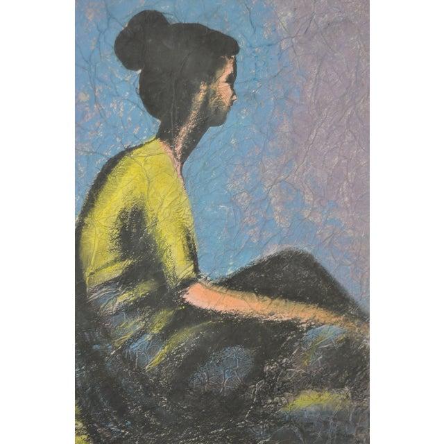 Vintage Pastel on Paper in Gilded Frame C.1950's - Image 5 of 6