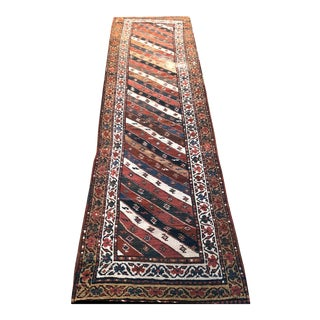 Antique 19th Century Caucasian Genge Stripe Design Hallway Runner For Sale